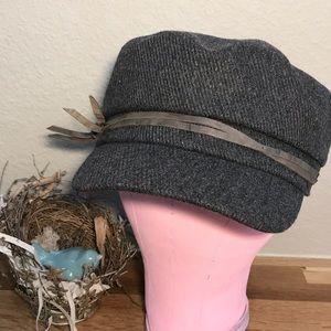 Athleta Gray Cadet Hat Wool & Viscose Blend